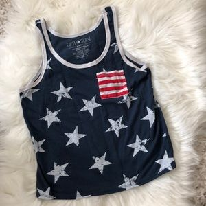 American Flag Fourth of July Crop top